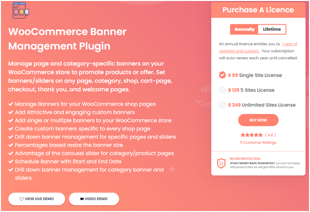 Figure 1: Banner Management Plugin for WooCommerce